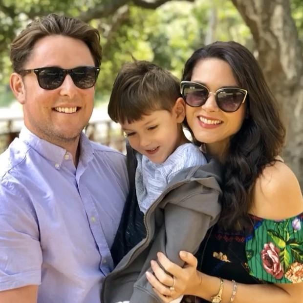 Fernanda Machado com marido e filho  (Foto: Reprodução/Instagram)