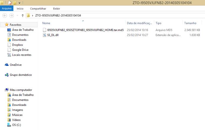 Extraia o arquivo md5 do ZIP (Foto: Reprodução/Paulo Alves)