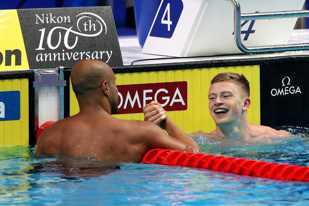 João Gomes vai nadar a final dos 50m peito no Mundial (Foto: Satiro Sodré/SSPress/CBDA)