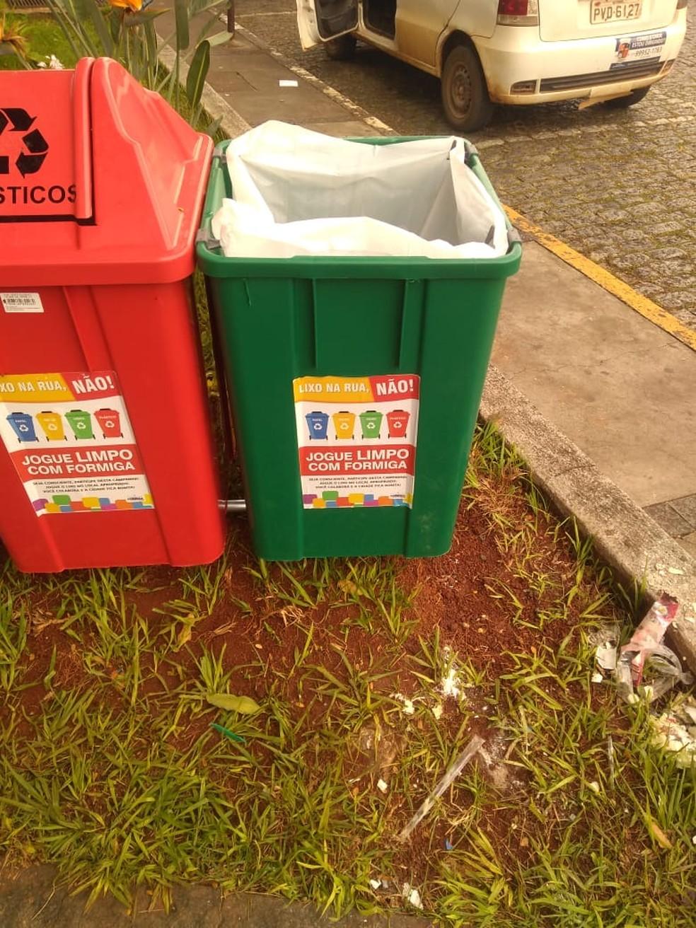 Prefeitura pede apoio da população para possíveis denúncias de vandalismo — Foto: Prefeitura de Formiga/Divulgação