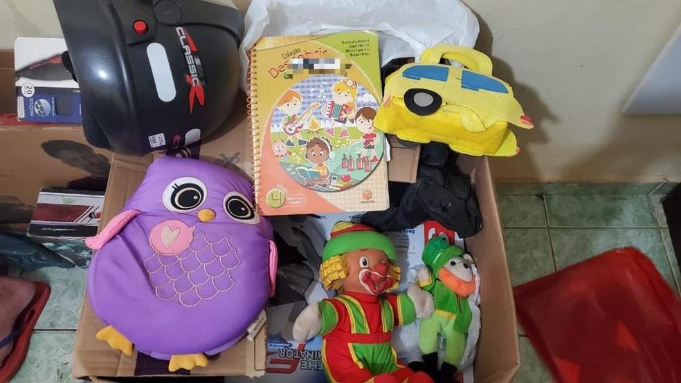 Polícia acredita que brinquedos seriam usados para atrair vítimas em Porto Velho — Foto: PF/Divulgação