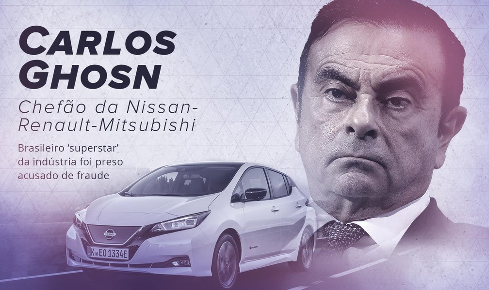 2018 sobre rodas: prisão de             Carlos Ghosn foi um dos fatos do ano ? Foto:  G1