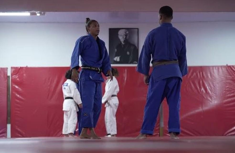 Judoca voltou a treinar no fim de agosto — Foto: Reprodução