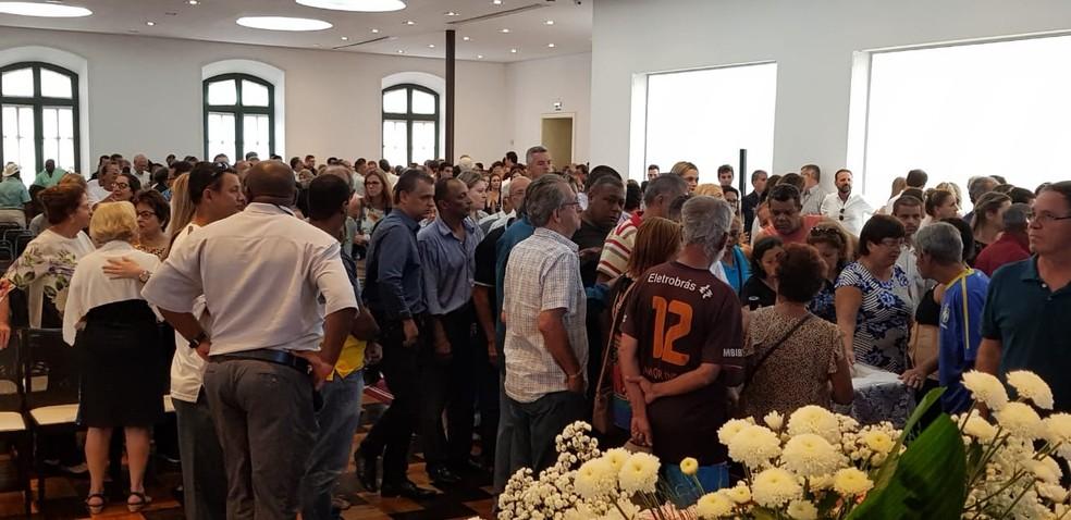 Velório do ex-governador Gerson Camata, em Vitória — Foto: Luiza Marcondes/ G1