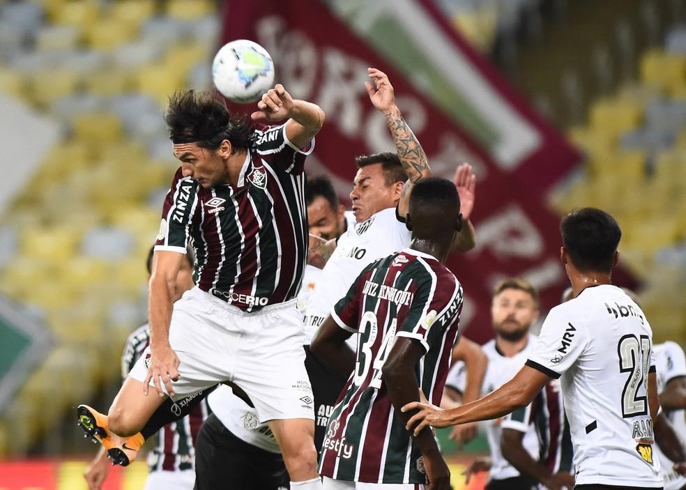 Matheus Ferraz em Fluminense x Atlético-MG — Foto: André Durão
