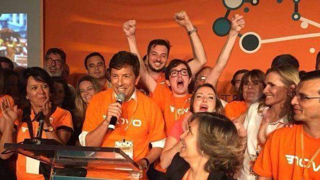 Um dos criadores do partido Novo, João Amoêdo deve ser o nome da primeira disputa presidencial da legenda (Foto: PARTIDO NOVO/FACEBOOK via BBC)