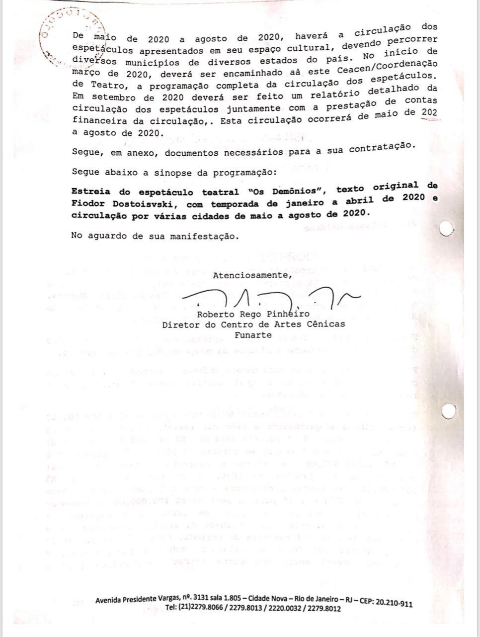 O 'convite' de Roberto Alvim à esposa