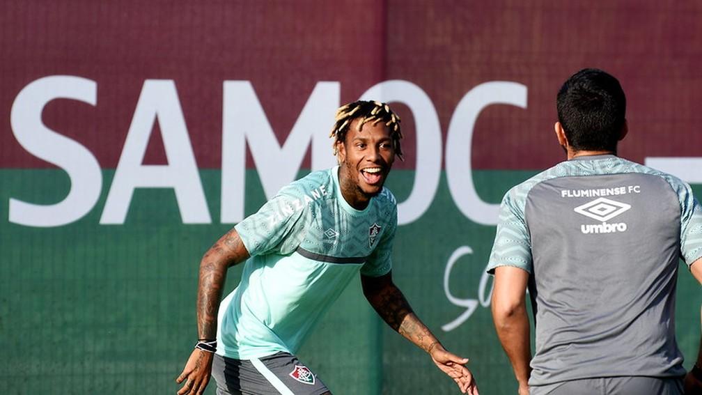 Abel Hernández reencontrou o bom futebol nas Laranjeiras e virou alternativa de luxo para Fred — Foto: Mailson Santana / Fluminense FC