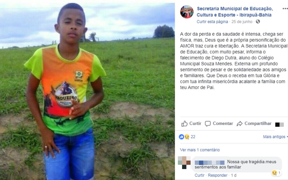 Adolescente de 14 anos morreu após cair de cavalo (Foto: Reprodução/Redes Sociais)