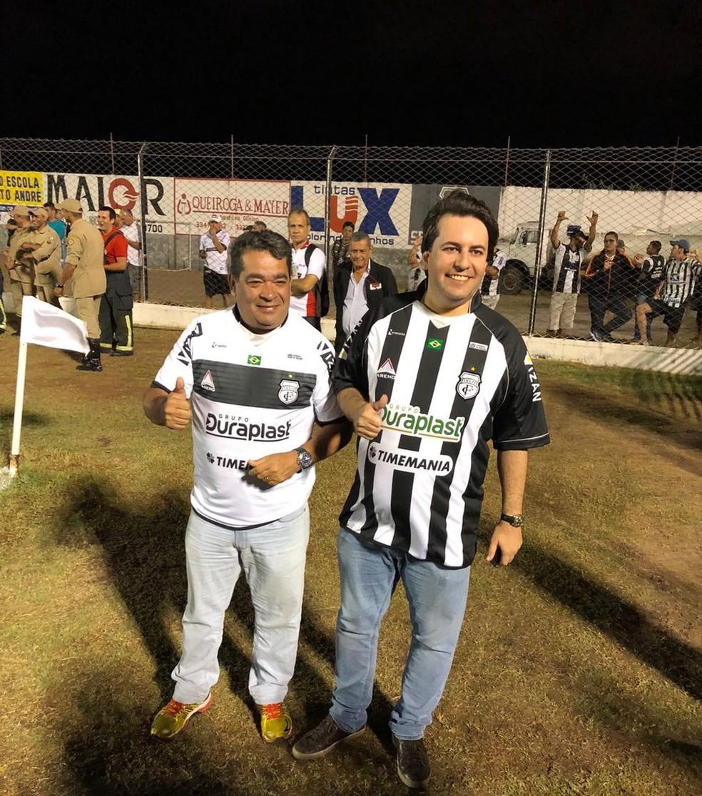 Amadeu Rodrigues, presidente da FPF, acompanhou a partida entre Treze e Cordino no Presidente Vargas (Foto: Silas Batista / GloboEsporte.com)