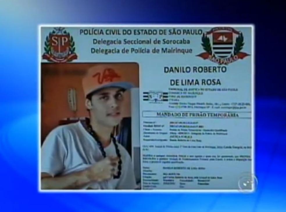 Polícia divulgou há quatro anos foto de suspeito de participar do crime em Mairinque (Foto: Reprodução/ TV TEM)