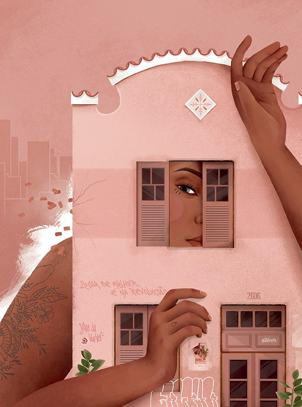 Ilustração de Priscila Barbosa (Foto: Divulgação)