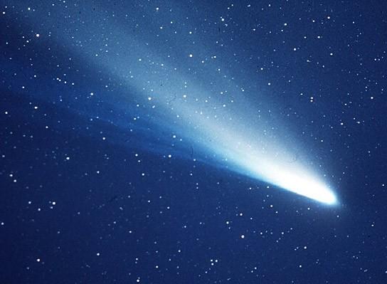 Registro do cometa Halley feito na década de 1980 (Foto: Divulgação)