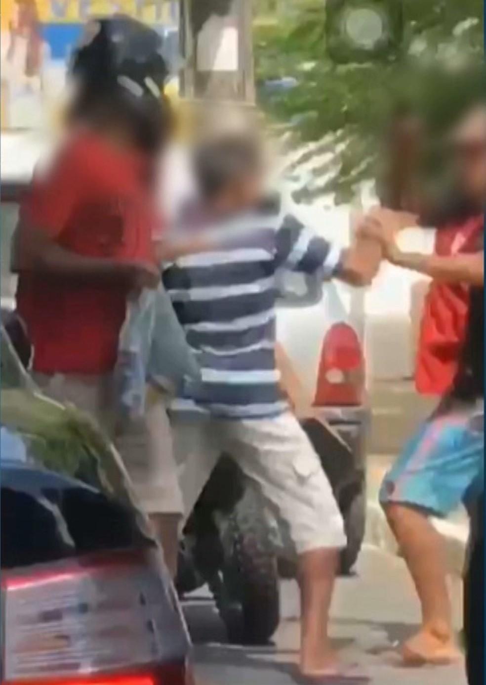 Dupla rouba moto no Centro de João Pessoa (Foto: Gustavo Araújo/Arquivo Pessoal)
