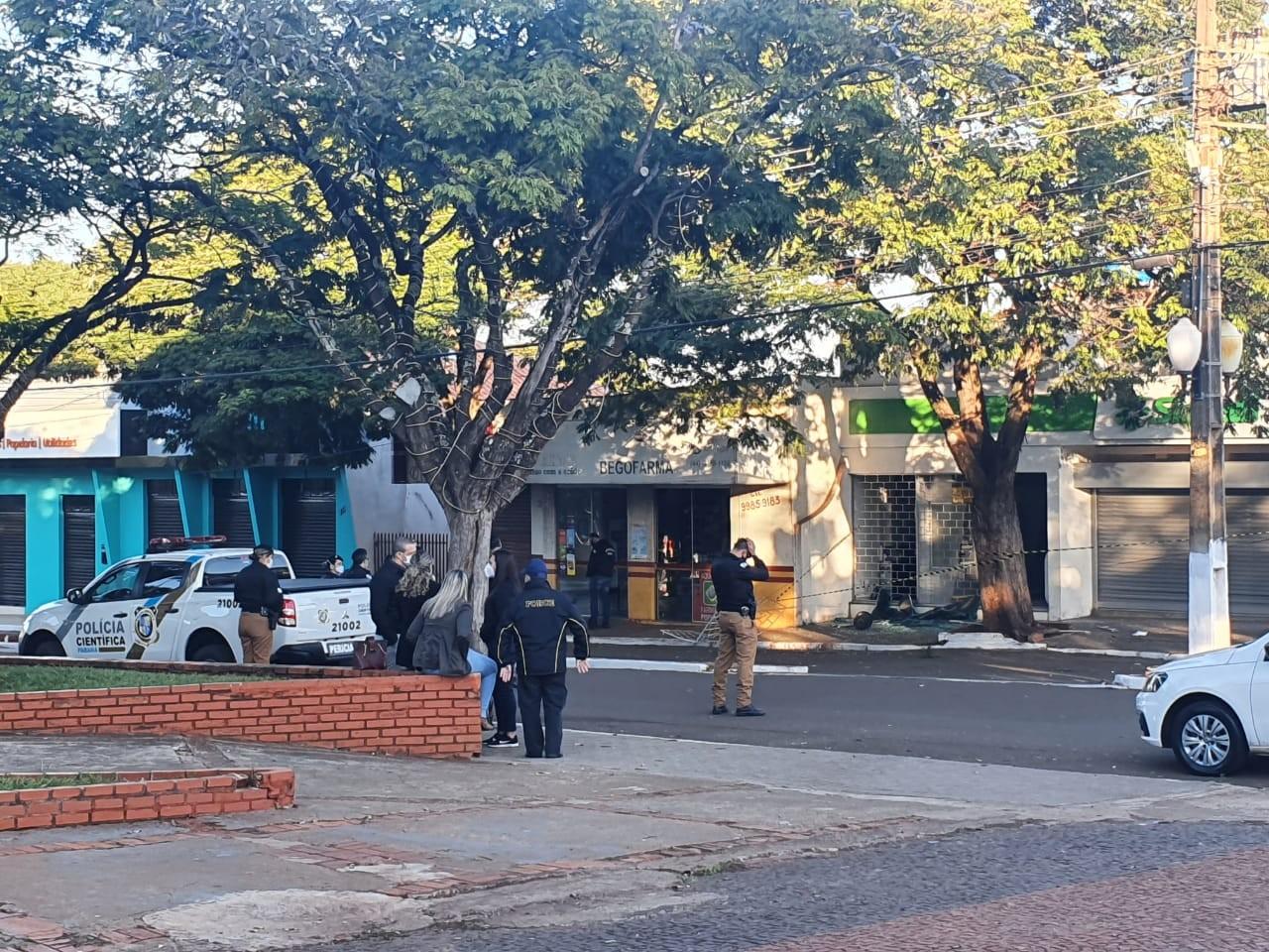 Ladrões explodem agência de cooperativa, em São Carlos do Ivaí