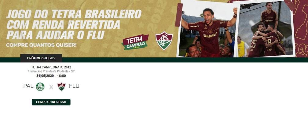 Fluminense abre venda de ingressos para jogo do tetra — Foto: Reprodução