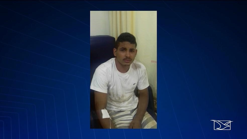 José Armando Alves da Silva, preso por ser suspeito de roubar um carro em Teresina. — Foto: Reprodução/TV Mirante
