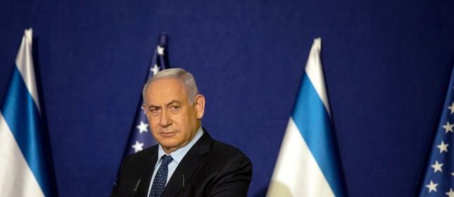 O primeiro-ministro israelense, Benjamin Netanyahu, em uma aparição pública em Jerusalém