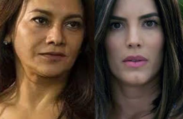 Celeste (Dira Paes), mulher casada que tem um caso com Leandro, é interpretada na adaptação por Gaby Espino e se chama Camila (Foto: TV Globo - Divulgação)