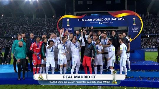 Confira a cerimônia de premiação do Mundial de Clubes, com o sexto título do Real Madrid