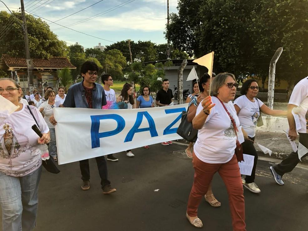 """12ª edição da """"Caminhada pela Paz"""" em Manaus (Foto: Roberta Bindá/Rede Amazônica)"""