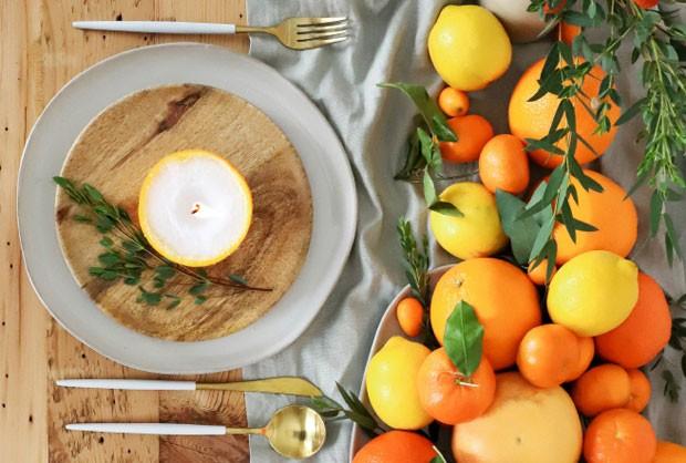 Laranjas na decoração da mesa: ideia para as festas de fim de ano (Foto: Reprodução / Blog Lovin)