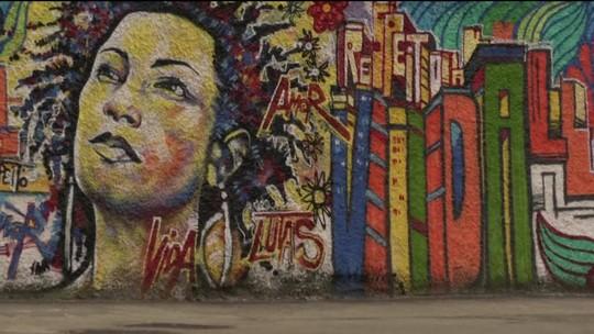 Manifestações artísticas ganharam as ruas para homenagear Marielle e Anderson