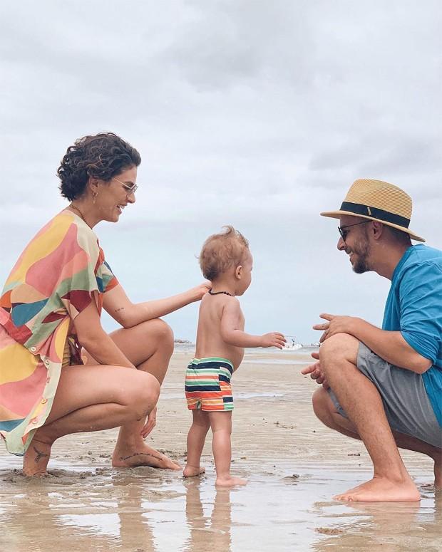 Monica Benini, Junior Lima e o pequeno Otto (Foto: Reprodução / Instagram)