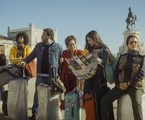 O elenco de 'Família em férias' em Lisboa | Divulgação