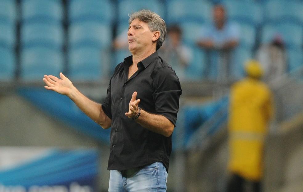 Renato Gaúcho lamentou muito a derrota para o Fluminense — Foto: Wesley Santos/Press Digital
