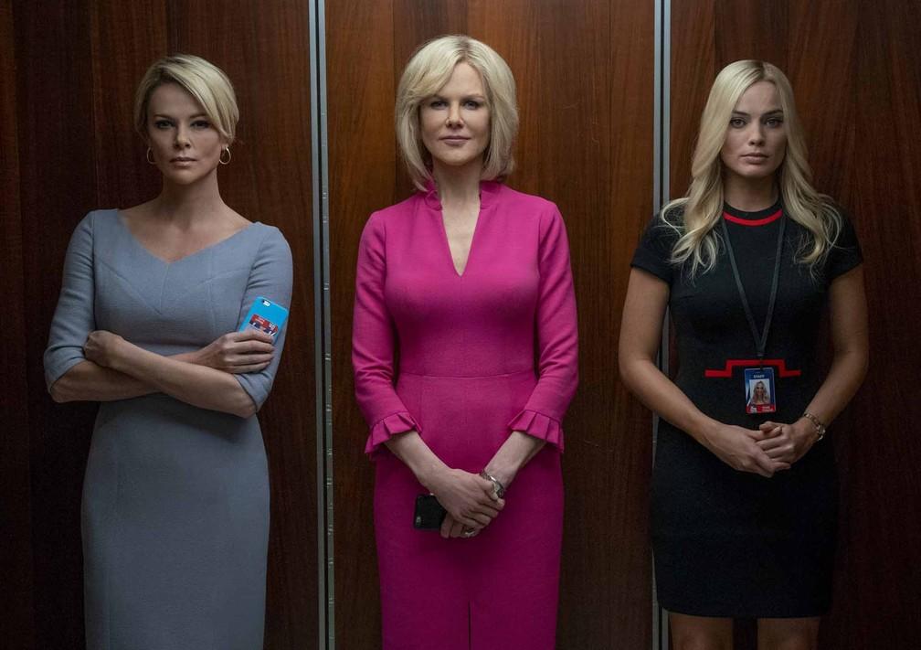 Charlize Theron, Nicole Kidman e Margot Robbie estrelam o filme 'O Escândalo' — Foto: Divulgação