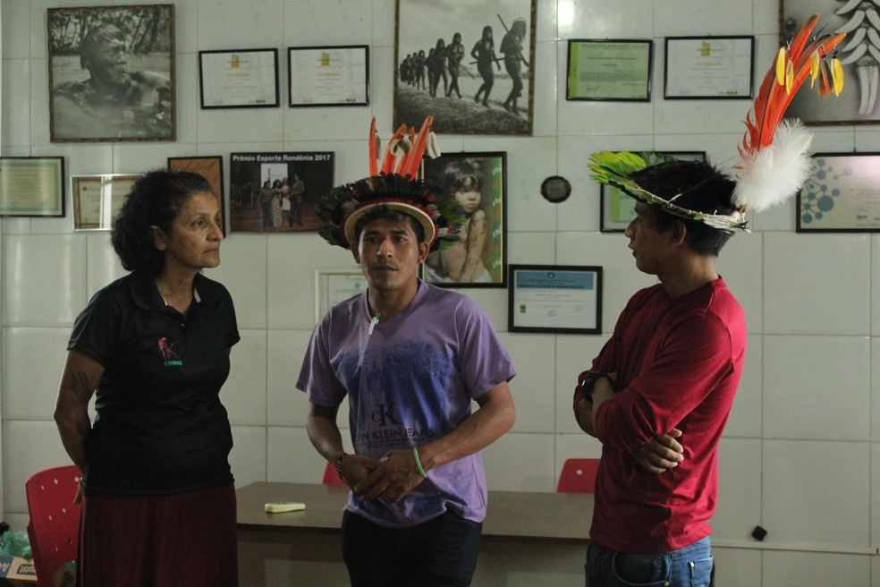 Ambientalista e representantes dos povos indígenas se reúnem em Porto Velho — Foto: Pedro Bentes/ G1