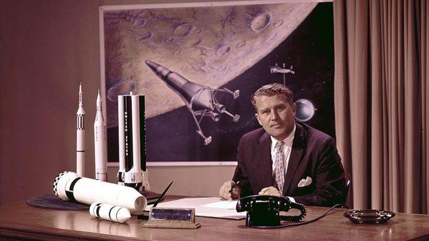 Wernher Von Braun, um ex-cientista nazista, foi o cérebro por trás do foguete que levou a Apollo 11 ao espaço (Foto: nasa)