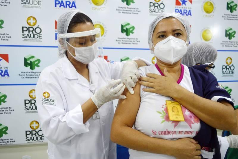 Pará registra mais de 60 mil pessoas vacinadas contra Covid-19