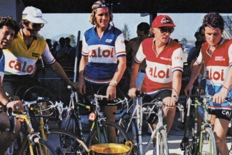 Niki Lauda em propaganda da bicicleta brasileira Caloi (Foto: Reprodução)