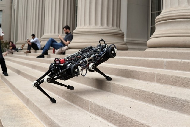 Robô tem 40kg e o tamanho de um labrador adulto (Foto: Reprodução/MIT)