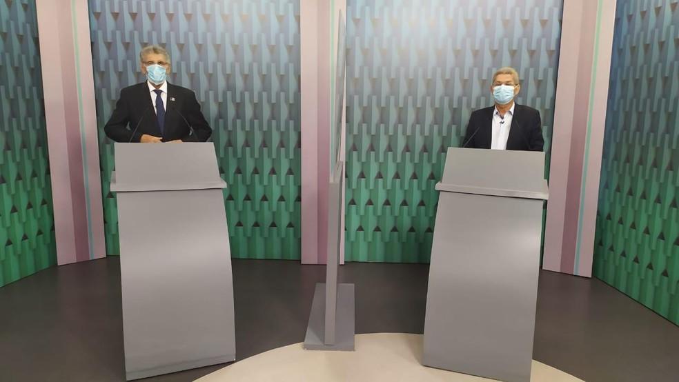 Candidatos à Prefeitura de Vitória da Conquista discutem propostas em debate na TV — Foto: Thiago Araújo / TV Sudoeste