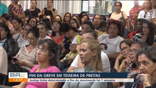 Após determinação judicial, professores encerram greve em Teixeira de Freitas