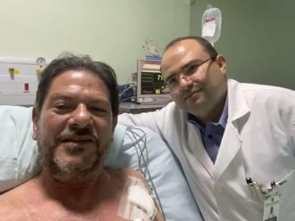 Cid Gomes deixa UTI de hospital após ser baleado durante manifestação de policiais em Sobral, no interior do Ceará — Foto: Reprodução/Instagram