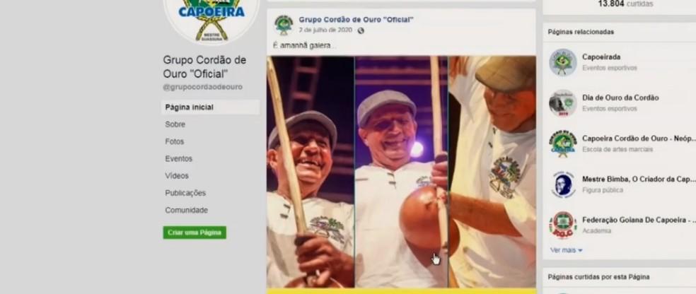 Cordão de Ouro é um dos mais tradicionais grupos de capoeira e tem atuação em todo o Brasil — Foto: Reprodução