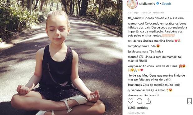 Fãs de Sheila Mello elogiam sua filha  (Foto: Reprodução/Instagram)