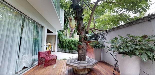 O verde de árvores e plantas traz a natureza para a decoração (Foto: EmCasa/ Reprodução)