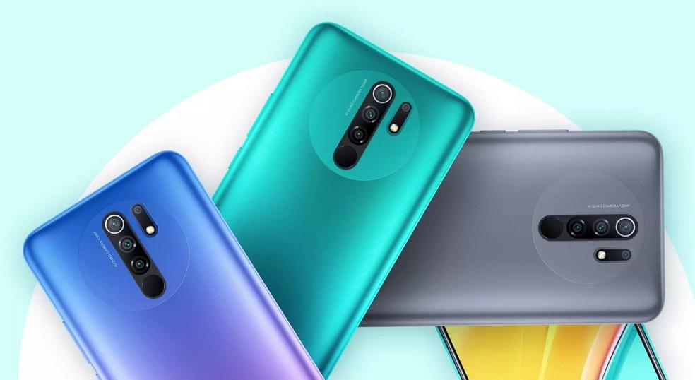 Redmi 9 conta com bateria de 5.020 mAh e câmera quádrupla — Foto: Divulgação/Xiaomi