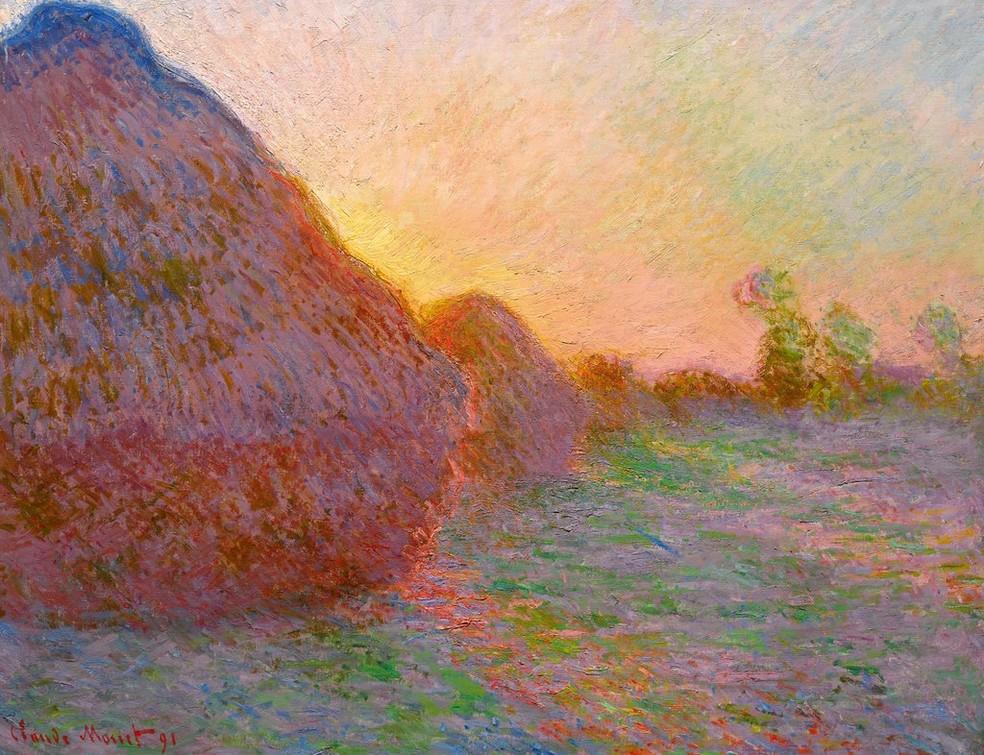 'Meules', de Claude Monet  — Foto: Reprodução / Sotheby's