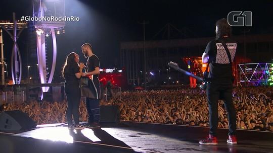 Jovem fala sobre ser pedida em casamento no palco do Foo Fighters no Rock in Rio: 'Fiquei em choque'