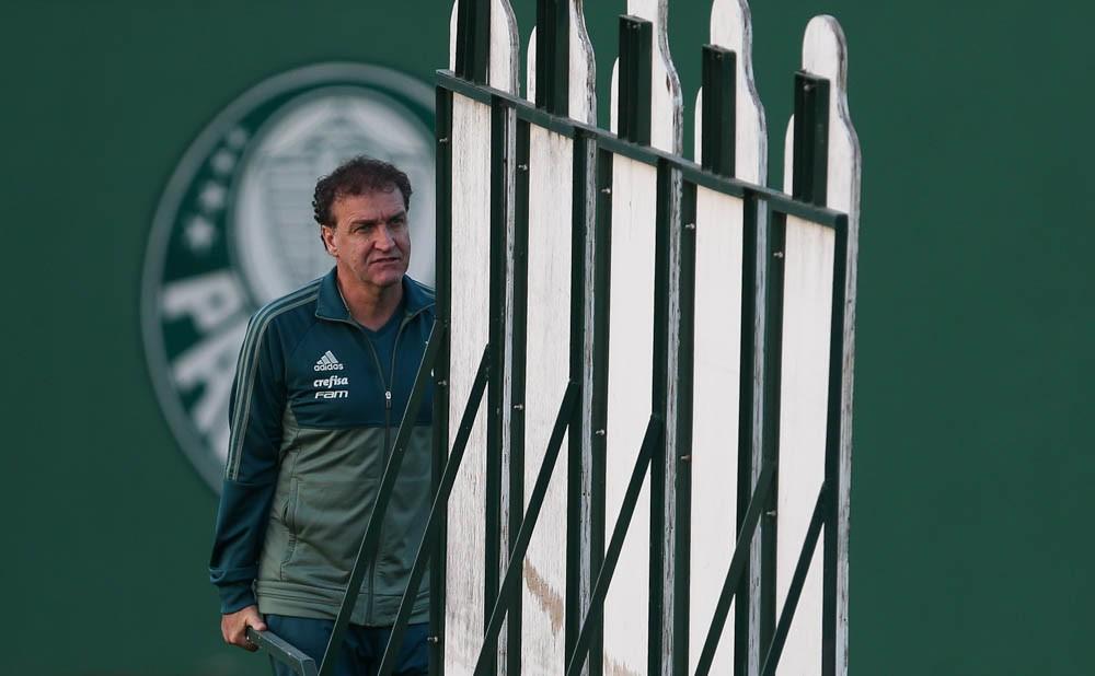 Cuca durante treino do Palmeiras (Foto: Ag. Palmeiras/Divulgação)