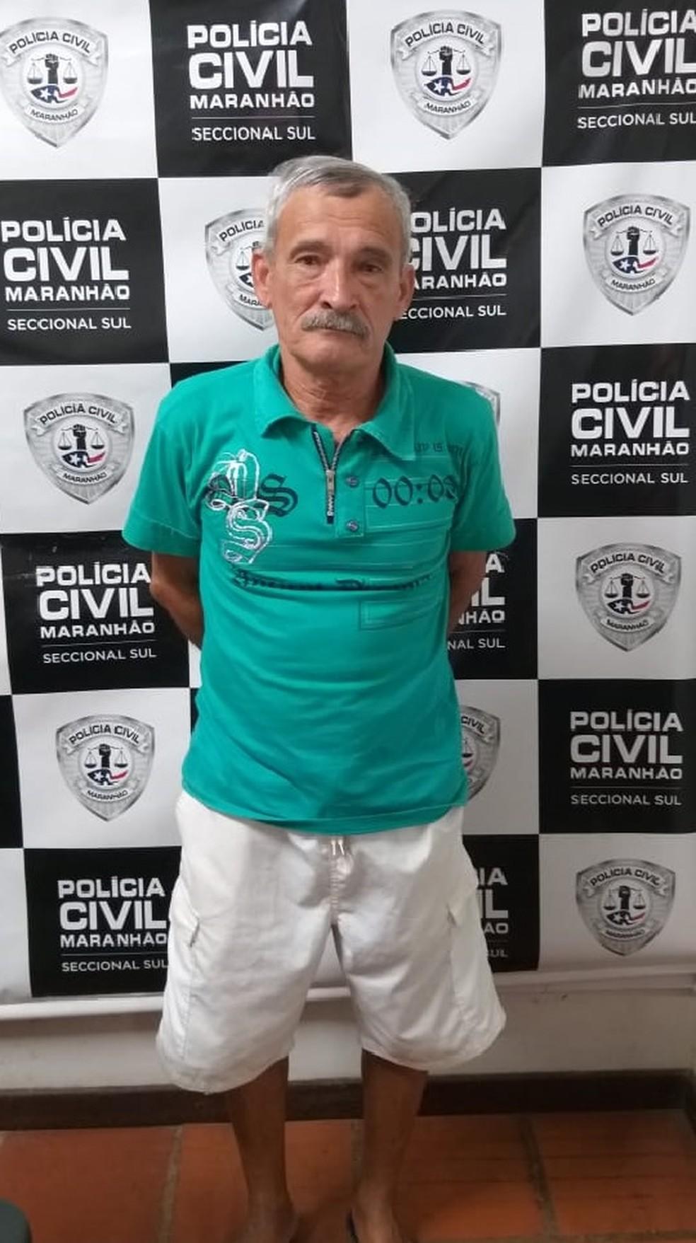 Joel Ramos Costa foi preso e encaminhado para o Centro de Triagem de Pedrinhas em São Luís — Foto: Divulgação/Polícia