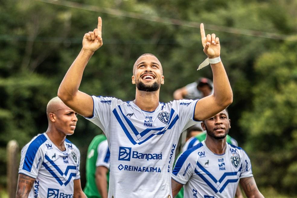 Gabriel Barbosa marca para o Paysandu — Foto: Jorge Luiz/Paysandu