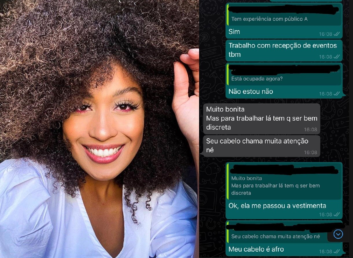 Funcionário de agência pede desculpa para modelo após sugerir diminuir volume de cabelo