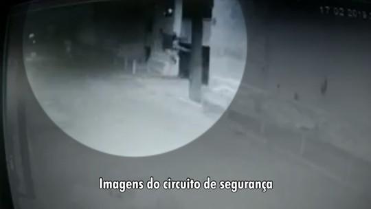 Câmera de segurança flagra sede do Treze sendo arrombada após mais uma derrota do time; assista